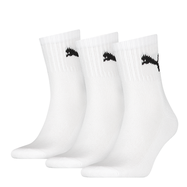 Puma sokken hoog wit 3 pack 47 49