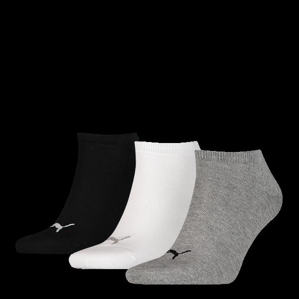 merk puma model sneaker sokken inhoud 3 paar sokken kleur wit grijs zwart maat 35 38 47 49 levertijd 2 3 ...