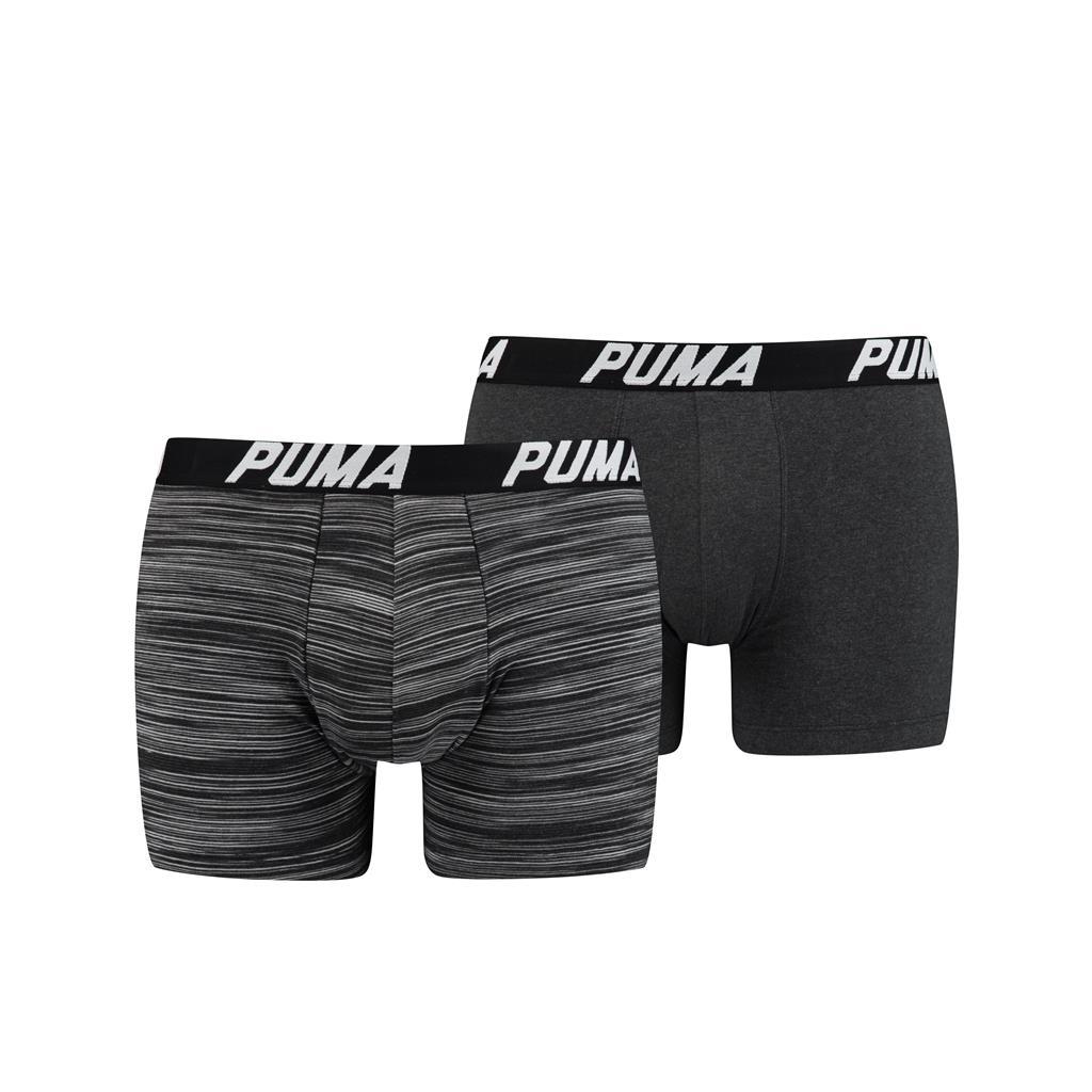 Puma Spacedye Stripe Boxershorts Black 2-pack-S