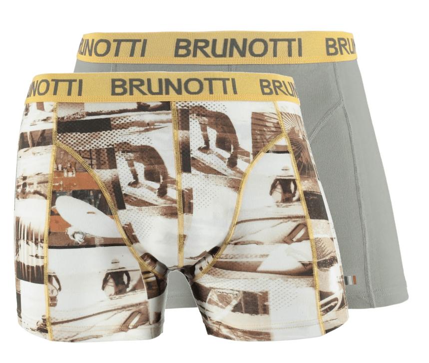 Brunotti Sebaso Shawny Boys Underwear 2 pack Grijs 128