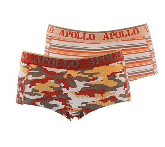 Apollo Dames hipster Camo Oranje XS