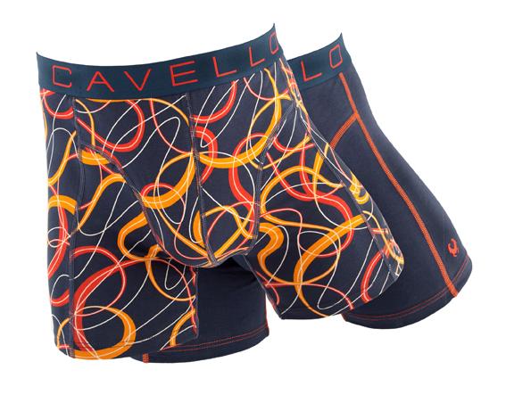 Cavello Boxershorts oranje print M