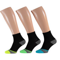 Apollo Heren Multi Black Hardloop sokken 3-pack