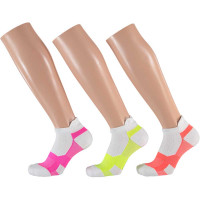Apollo Dames Multi White Fitness sokken 3-pack