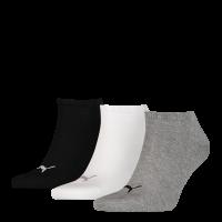 Puma sokken Sneaker grijs-wit-zwart 3-pack