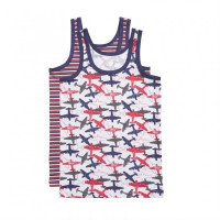 Ten Cate Kids Boys Singlet Rood/Wit/Blauw 2-pack