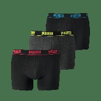 Puma Boxershorts 3-pack Red/Yellow/Blue