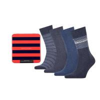 Tommy Hilfiger Heren Sokken Tin Giftbox Jeans 4-Pack