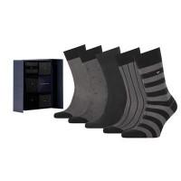 Tommy Hilfiger Heren Sokken Giftbox Birdeye Black 5-Pack