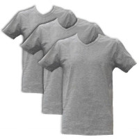 Apollo Heren T-shirts V-Neck 3-pack Light Grey