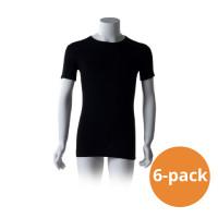 Cavello Basic T-Shirts Zwart Ronde Hals 6-pack
