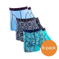 Cavello Boxershorts Verschillende Kleuren Blauw 6-Pack