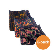 Cavello Boxershorts Verschillende kleuren Oranje-Zwart 6-Pack