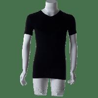 Cavello T-Shirts V-hals Zwart 2-pack