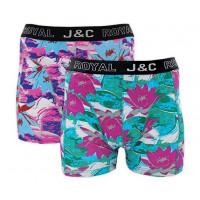 JC Boxershorts H228 Fuchsia/Groen