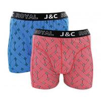JC Boxershorts H231 Blauw/Rood