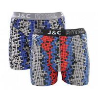 JC Boxershorts H234 Grijs/Rood