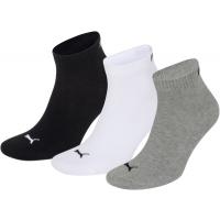 Puma sokken halfhoog wit-zwart-grijs 3-pack