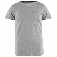 Brunotti Adrano Heren T-shirt V-hals Light Grey Melee