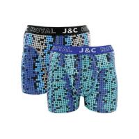 JC Boxershorts H234 Blauw/Groen