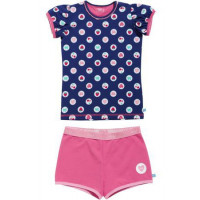 Lief! Girls shortama 4525 Blue Dot Print