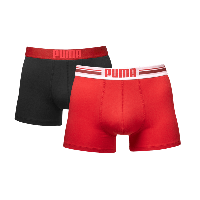 Puma PLACED LOGO Red 2-pack