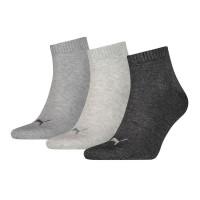 Puma sokken halfhoog 3-Pack antraciet/light melange grey/medium melange grey
