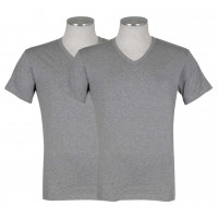 Puma 2-pack V-Neck T-shirt Grijs