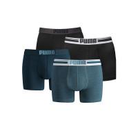 Puma boxershorts Placed Logo 4-pack Zwart/Denim