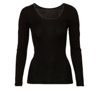 Ten Cate Basic Women Cotton Shirt Longsleeves Zwart