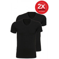 Ten Cate 2-Pack Basic T-shirts V-Hals Zwart