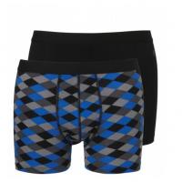 Ten Cate boxershorts giftset 2-pack Zwart/Ruit