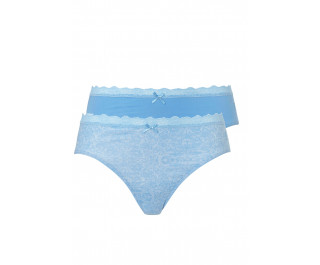 Ten Cate Woman Summer Festival 2-pack Hipsters Blauw Print