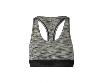 Puma Space Dye Racer Back Bra Dames Black