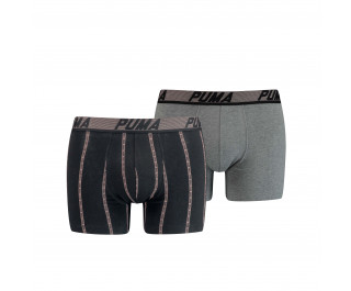Puma Boxershorts Logo Stripe Black Combo 2-Pack