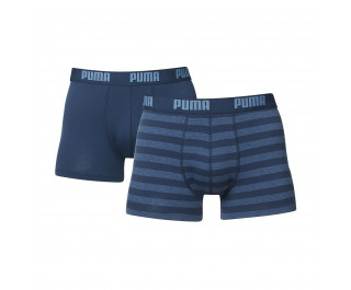 Puma heren boxershorts 2-pack Stripe Denim