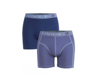 Vinnie-G boxershorts Flame Blue Print Grey 2-pack