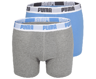 Puma Boxershort Duo-verpakking Blue-Grey NOS