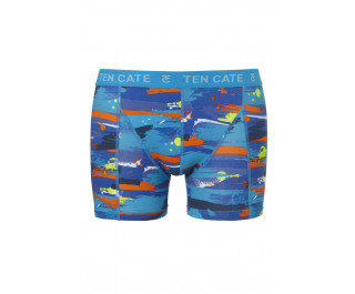 Ten Cate Men Printed Shorts 3224 Paint Blue