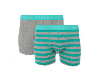 Puma 2-pack heren boxershorts Stripe Columbia Green