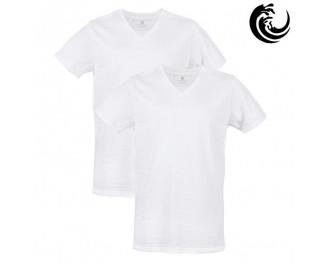 Vinnie-G t-shirt wit v hals 2