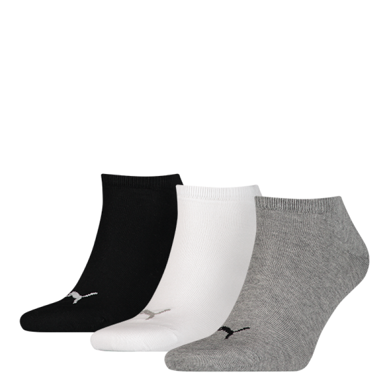 ea99440d95f Puma sokken invisible grijs-wit-zwart 3-pack | Modemania