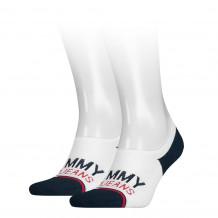 Tommy Hilfiger Uni Tj No Show High Cut White 2-Pack