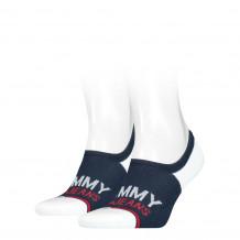 Tommy Hilfiger Uni Tj No Show High Cut Navy 2-Pack