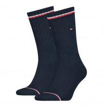 Tommy Hilfiger Men Iconic Sock Dark Navy 2-Pack