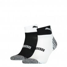 Puma Quarter Sokken Heren 2-pack Black/ White