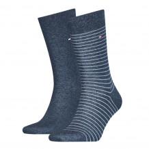 Tommy Hilfiger Men Small Stripe Sock Jeans 2-Pack