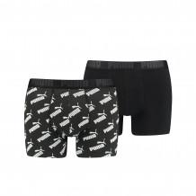 Puma Boxershorts AOP 2-pack Black