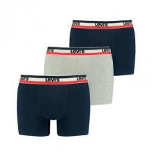Levi's Men Sprtwr Logo Boxer Brief navy/grey melange 3-Pack