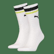 Puma Crew Heritage Stripe sokken lime 2-pack
